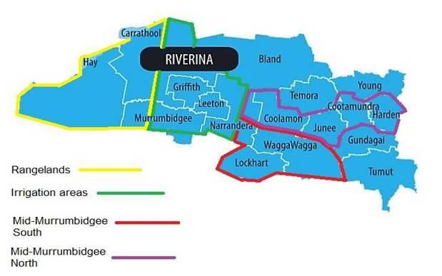 The new Riverina Local Landcare Coordinator regions